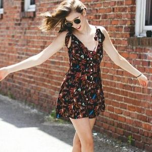 Free People Claudia Rayon Button Front Dress
